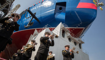 Russia Launches global's biggest, maximum effective Icebreaker