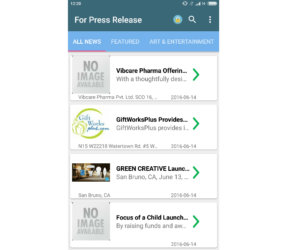 For Press Release.com launches its Android cell app