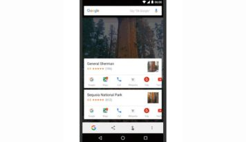 Google's Now on tap gets New close by places, brief actions alternatives
