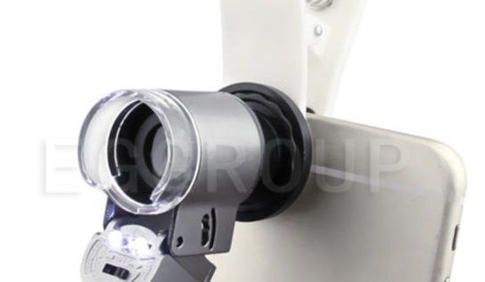 A clip-on that can flip your cellphone into microscope