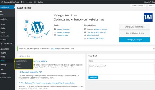 Migrating a WordPress Website